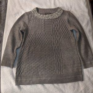 """Karl Lagerfeld """"Pearl"""" Embellished Sweater Size Sm"""